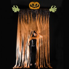 Halloween Curtain Giant Pumpkin 350cm