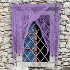 Halloween Curtain net Purple 220 x 75cm