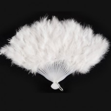 Feather Fan Ostrich 50cm White
