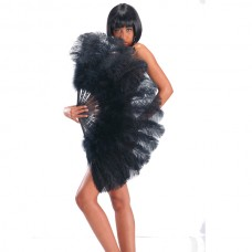 Fan Feather Ostrich 100cm Black