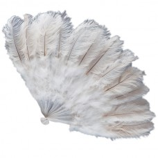 Fan Feather Ostrich 100cm White