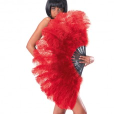 Fan Feather Ostrich 100cm Red