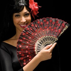 Fan Decorated Black