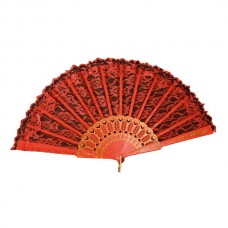 Fan Decorated Red