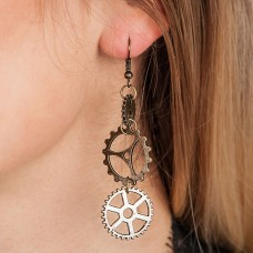Earings Steampunk Gearwheels
