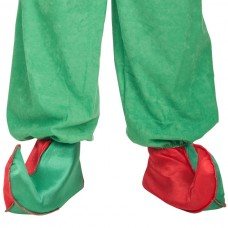 Shoe Covers Elf Red & Green