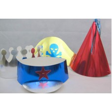 Hats Shaped Foil Party Asstd 4's in bag