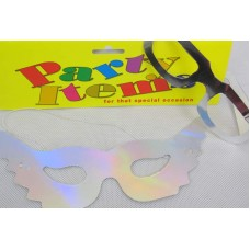 Foil Party Masks & Glasses Silver12s