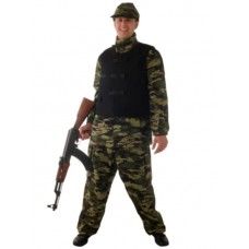 Army camouflage with Flack Jacket Suit L