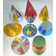 Foil Party Hats Asstd Shapes & Cols 20's