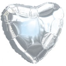 Balloon Foil - Heart Metallic Silver