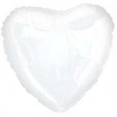 Balloon Foil - Heart Opaque White