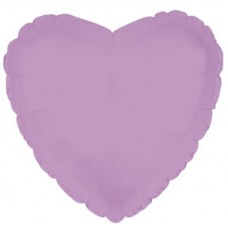 Balloon Foil - Heart Metallic Lavender