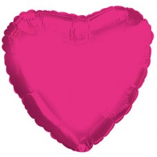 Balloon Foil - Heart Metallic Pink Hot