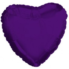Balloon Foil - Heart Metallic Purple