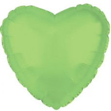 Balloon Foil - Heart Opalescent Lime Gr