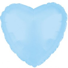 Balloon Foil - Heart Opalescent Blue Lt