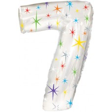 Balloon Foil - Number 7 Multi Sparkle