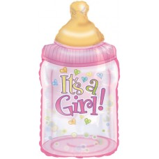 Balloon Foil - Baby Its a Girl Bottle