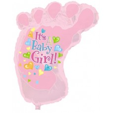 Balloon Foil - Baby Its a Girl Foot
