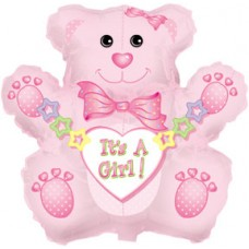Balloon Foil - Baby Its a Girl Bear