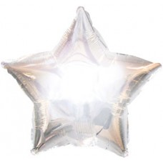 Balloon Foil - Star Metallic Silver