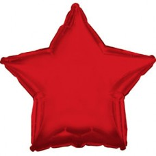 Balloon Foil - Star Metallic Red