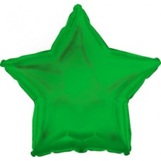 Balloon Foil - Star Metallic Green