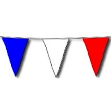Bunting Asstd Red White & Blue 10m & 20