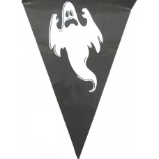 Bunting Halloween Ghost 6m & 15 flags