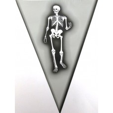 Bunting Halloween Skeleton  6m & 15 flag