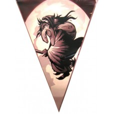 Bunting Witch  6m & 15 flag