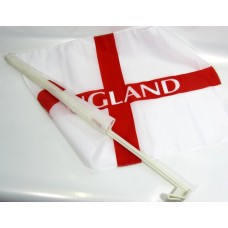 England Football Car Flag on Stick 46cm