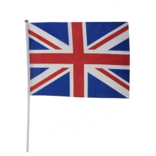Union Jack Flag with Stick 19cm x 30cm