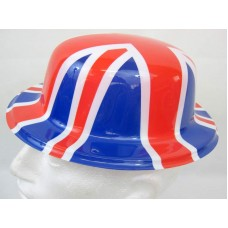 Union Jack Hat Bowler printed Union Jack