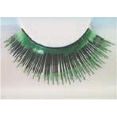 Eye Lash set Metallic Green