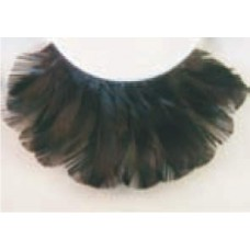 Eye Lashes Feather Black