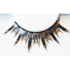 Black Lashes with Gold Strips