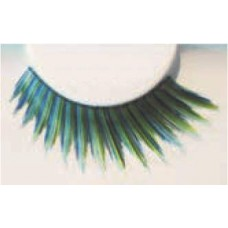 Blue & Green stripe eye lashes