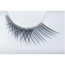 Eye Lash set Crossed Short/Long Black