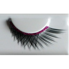 Eye Lash set Crossed Black & Pink Strap