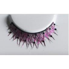 Eye Lashes Crossed Black & Sequined