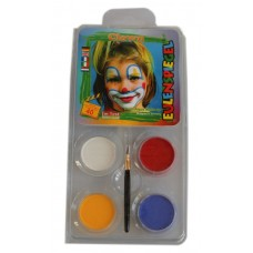 Face Pack 4 Colours Clown