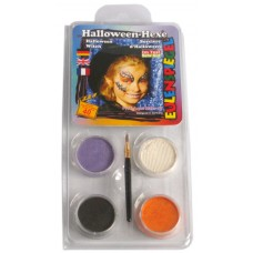 Face Pack 4 Colours Halloween Witch