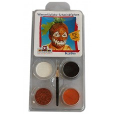 Face Pack 4 Colours Pumpkin