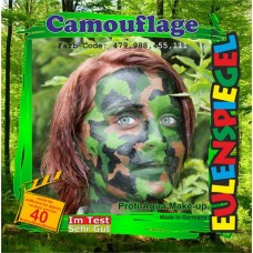 Face Pack 4 Colours Camouflage