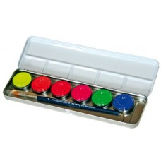 Metal Paint Box 6 Neon Color Metal Palet