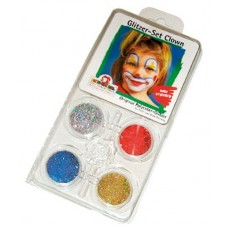 Glitter Motif Set Face Clown