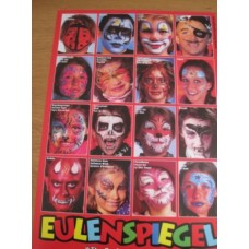 Poster with 16 mask pictures