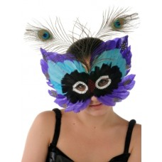 Mask Feather 3 Tier Peacock 2 Design